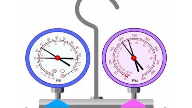 汽车维修时,汽车空调压力表怎么看?